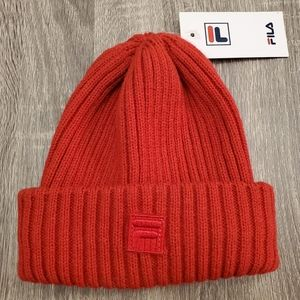 FILA Beanie Chinese Red One Size